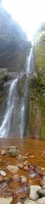 Waterfall near Souffrière volcano
