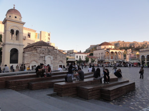 Monastiriki Square, Athens, Greece
